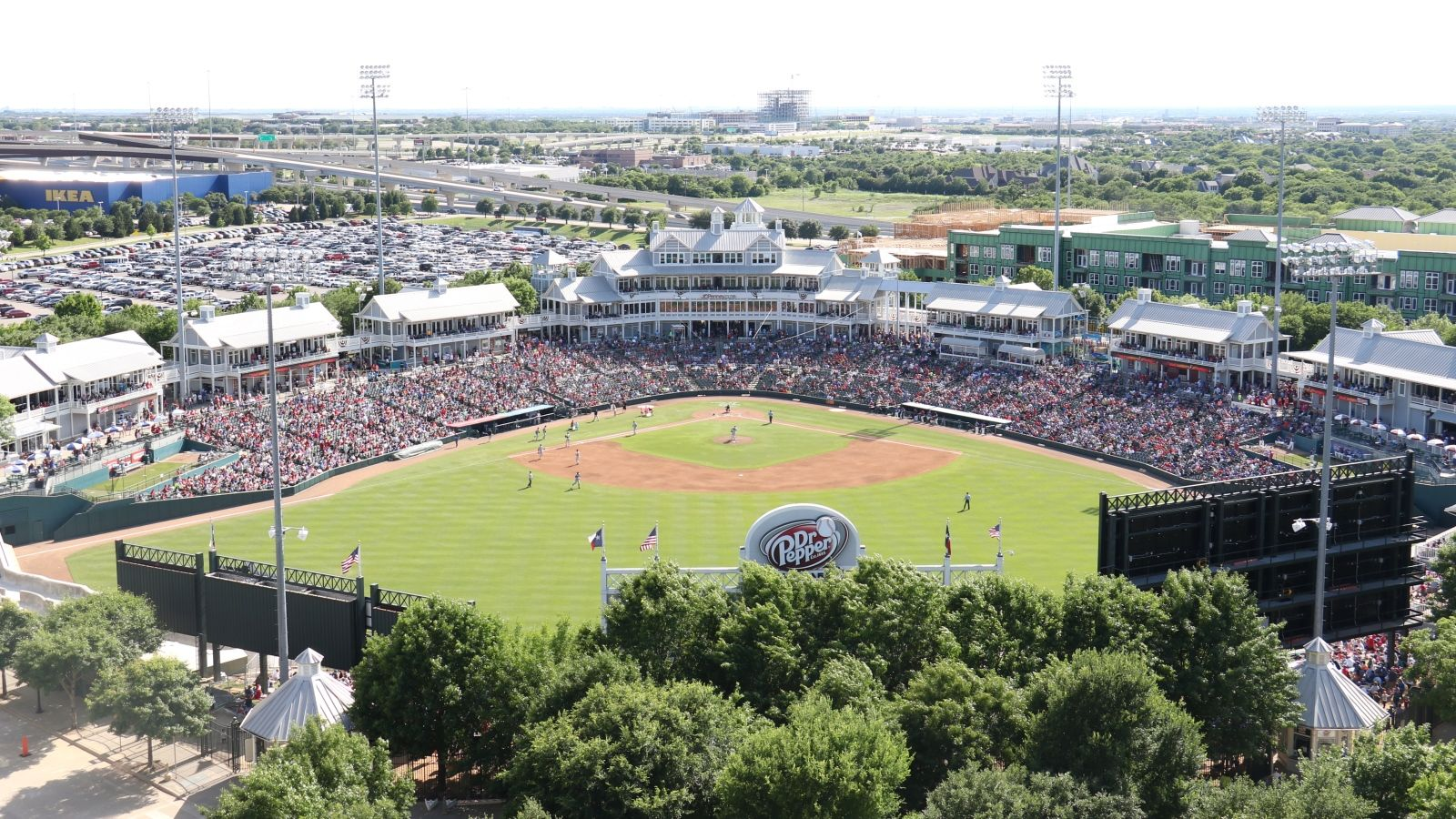 Dr Pepper Ballpark image courtesy of Frisco RoughRiders Baseball